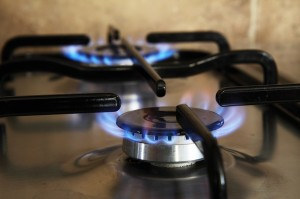 Preventing fires from gas burner stoves